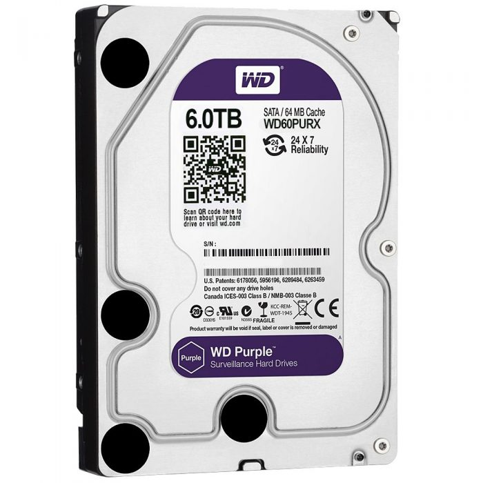 "Western Digital Purple 6TB 3.5"" Surveillance SATA III Internal Hard Drive-0"