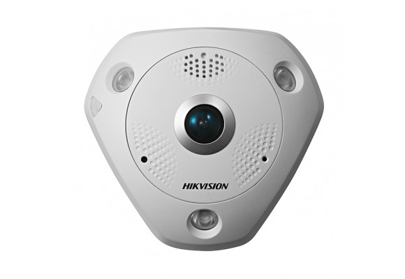 Hikvision 6MP PoE IP 1.27mm CCTV Fisheye Camera with Audio/Alarm I/O DS-2CD6362F-IVS-0