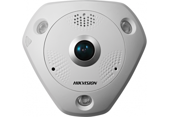 Hikvision 12MP PoE IP 1.98mm CCTV Fisheye Camera with Audio/Alarm I/O DS-2CD63C2F-IVS-0