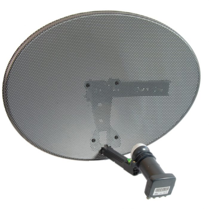 Sky MK4 Satellite Dish with Quad LNB for Sky Plus HD & Freesat HD-0