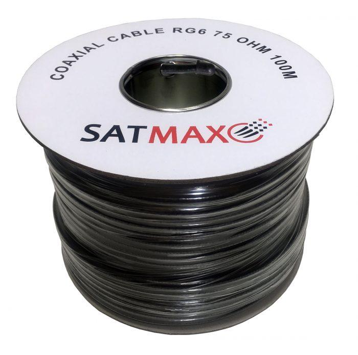 Satmax 100m Black RG6 Coax Satellite Cable-0