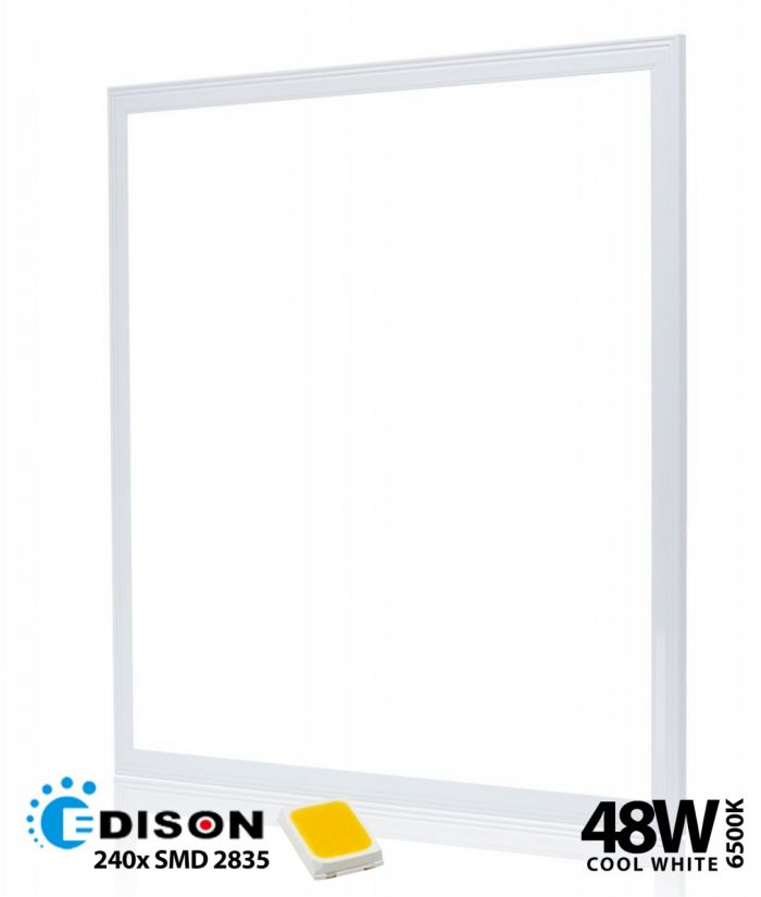 5x DRX 48W Suspended Ceiling Ultra Slim Cool White LED Light Panel 600 x 600-0