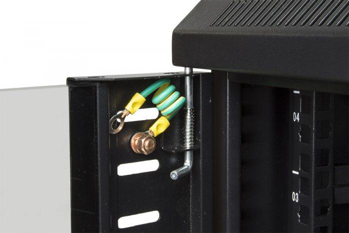 "Black 4U 19"" Wall Mounted 600*450mm Data Network Cabinet Rack -917"