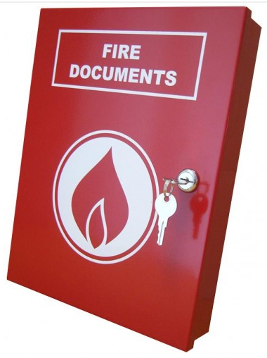 A4 Red Lockable Secure Fire Documents Storage Box-0