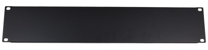 "2U 19"" Rack Mount Tool Free Toolless Blank Blanking Panel Plate Black-0"