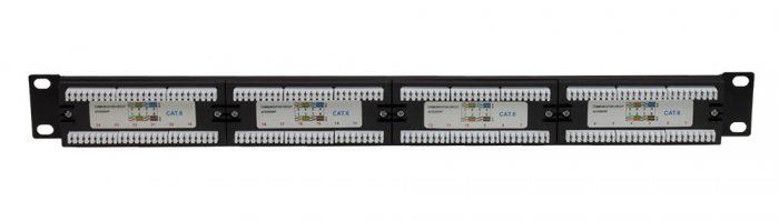 24-Port 1U CAT6 UTP IDC Patch Panel-1347