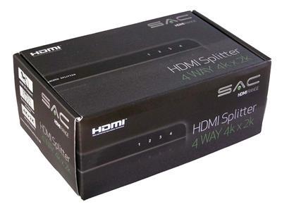 SAC 4-Way HDMI Splitter (4K x 2K)-1132