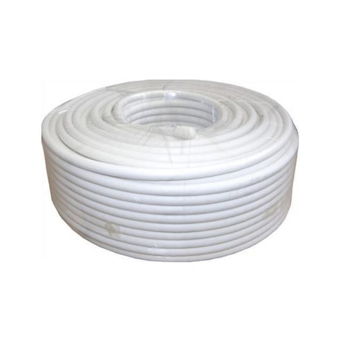 SAC 50m White RG6 Coaxial Satellite Cable -0