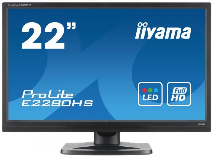 "Iiyama 22"" LED VGA/HDMI & DVI-D Monitor E2280HS-0"