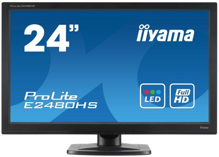 "Iiyama 24"" LED VGA/HDMI & DVI-D Monitor E2480HS-0"