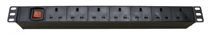 "1U 19"" Rack Mount 6-Way Power Distribution Unit PDU for UK Plug & Sockets-0"