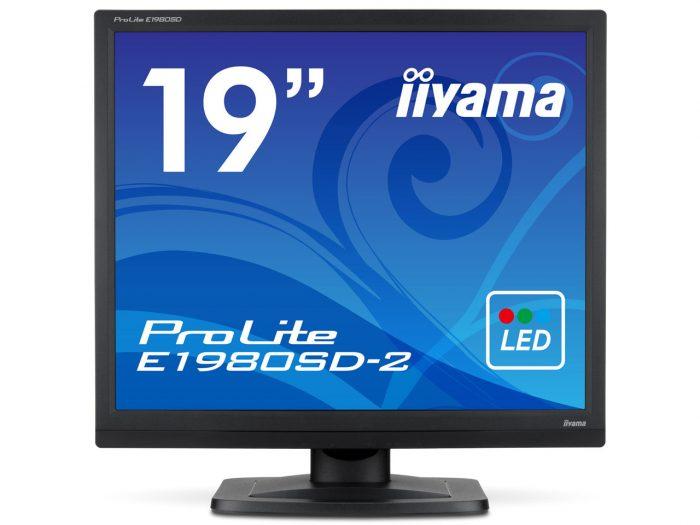 """Iiyama ProLite E1980SD 19"""" DVI VGA Monitor-0"""