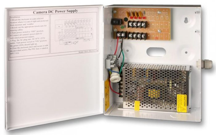 Haydon 4-Way 5A PTC Fused Boxed CCTV Power Supply-0