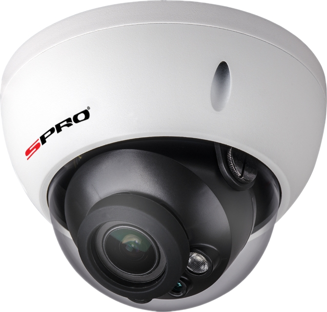 3MP IP VANDAL RESISTANT DOME CAMERA, 2.8-12MM VARI-FOCAL, 30M IR