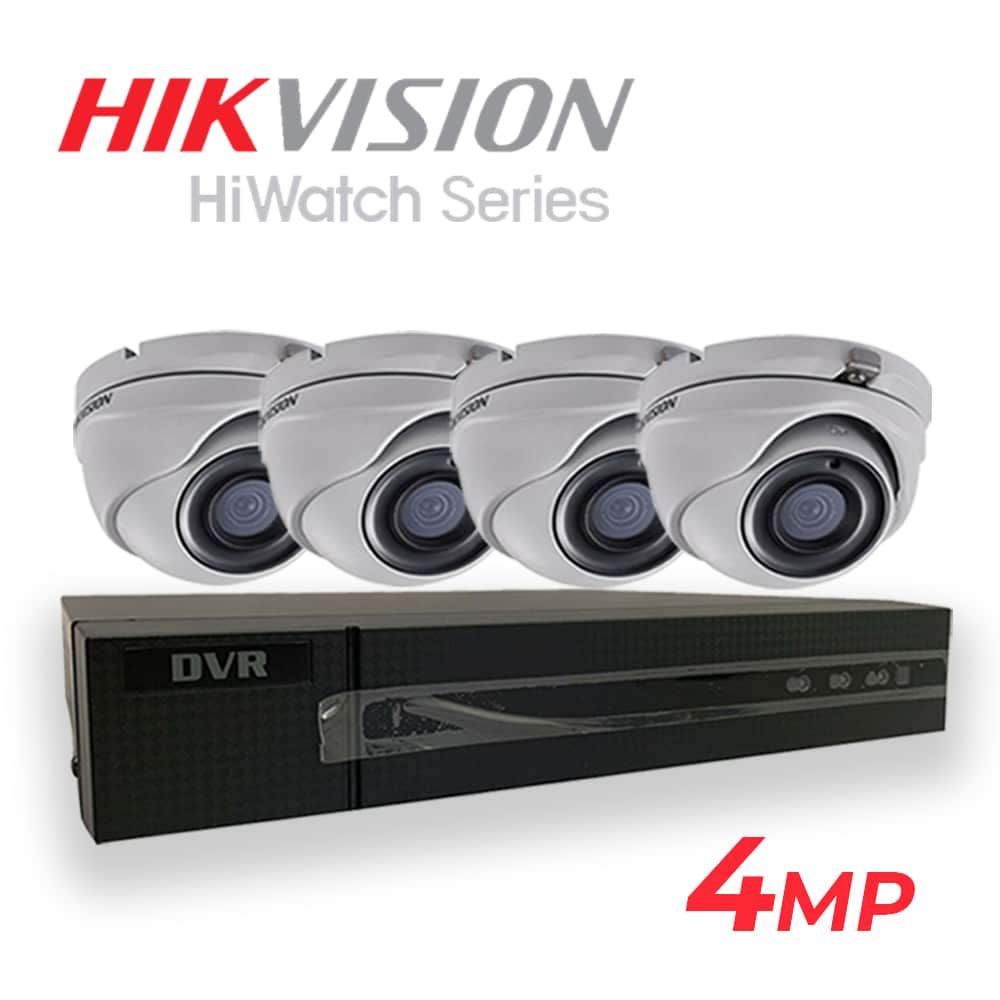 HIKVision HiWatch 4MP 4 Camera CCTV Kit